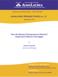 How Do Women Entrepreneurs Perform in Egypt?