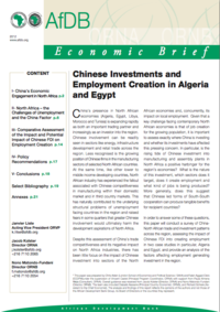 Chinese Investments and Employment Creation in Algeria and Egypt