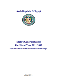 State's General Budget for 2011/2012 - Egypt: Volume One