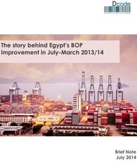 The story behind Egypt's BOP improvement