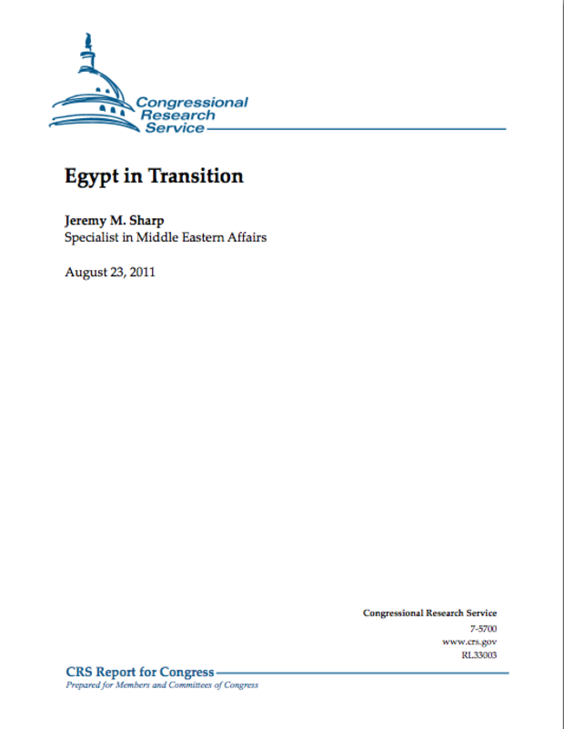 Egypt in Transition - Congressional Research Service