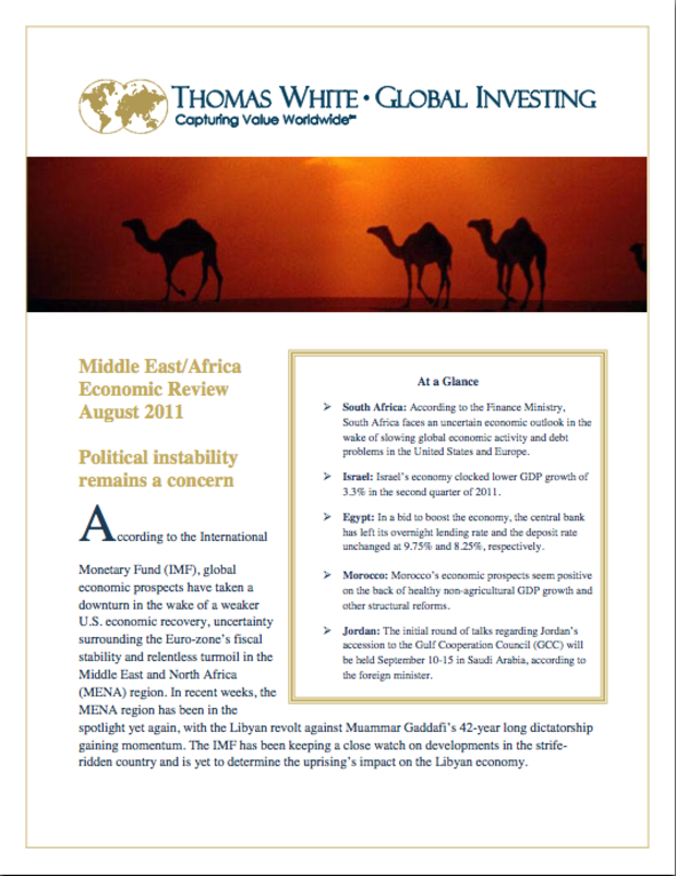 Middle East / Africa Economic review - August 2011