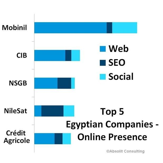Online performance of Egypt's top 50 companies