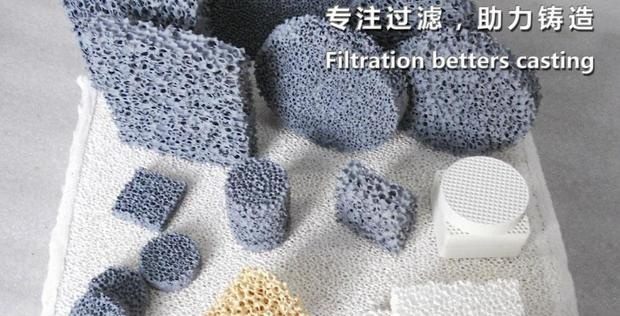 Sic ceramic foam filter for iron castings filtration