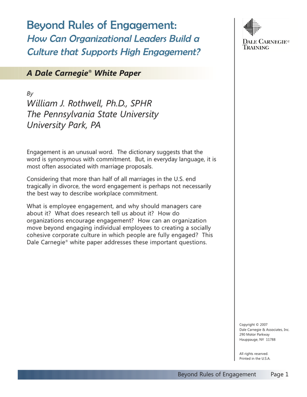 Beyond Rules of Engagement