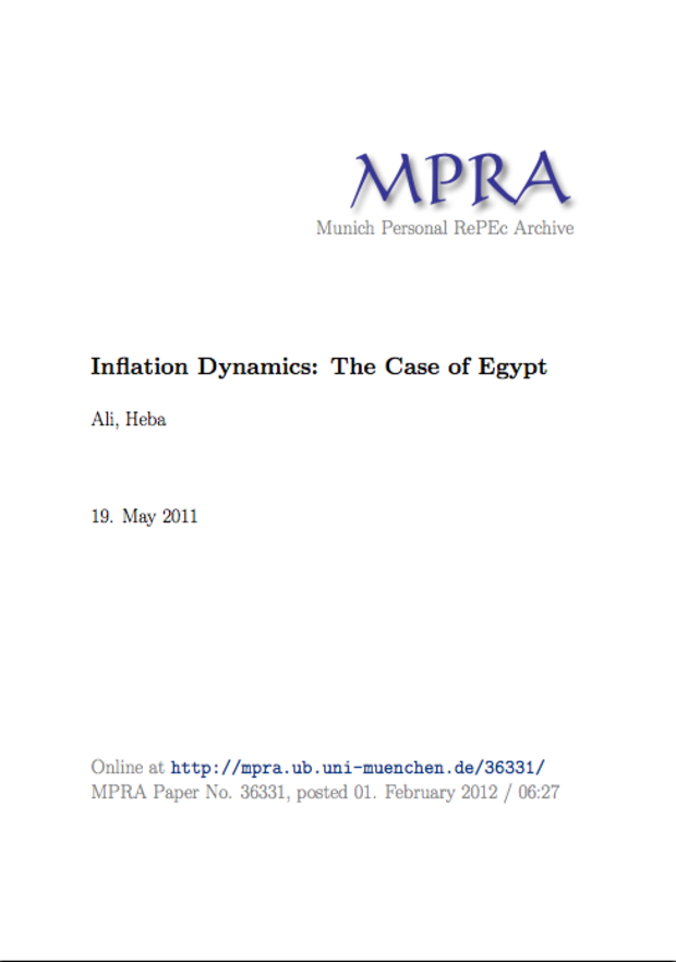 Inflation Dynamics: The Case of Egypt