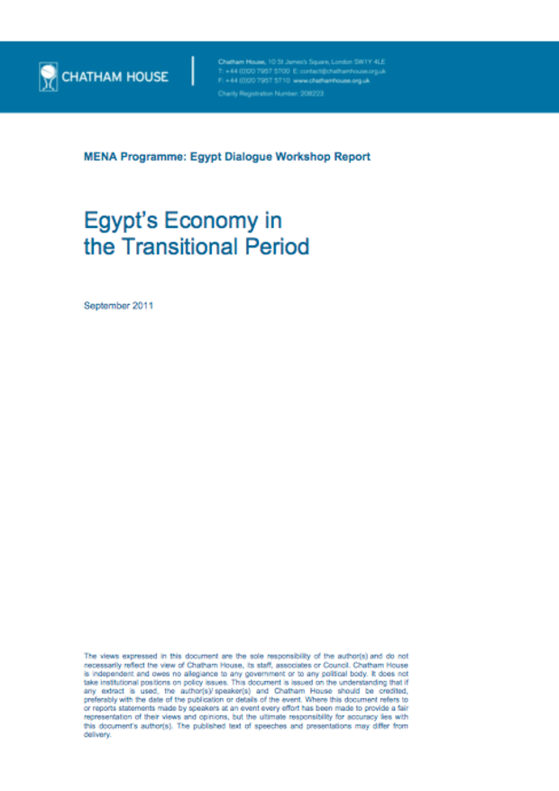 Egypt's Economy in the Transitional Period
