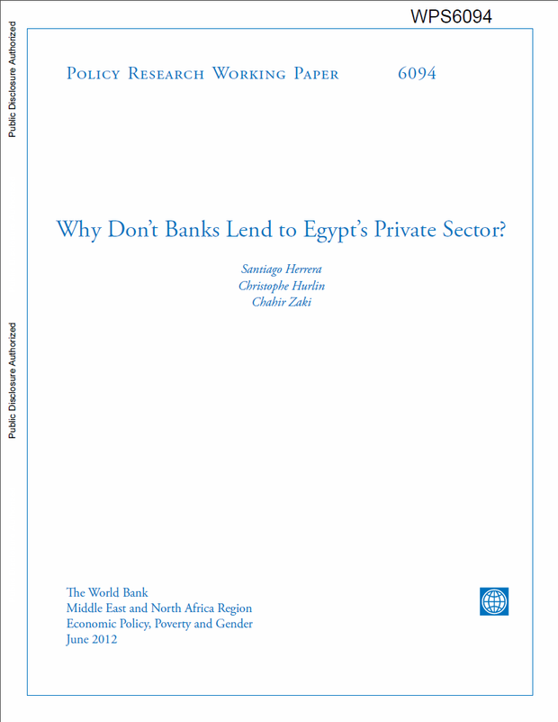 Why don't banks lend to Egypt's private sector?