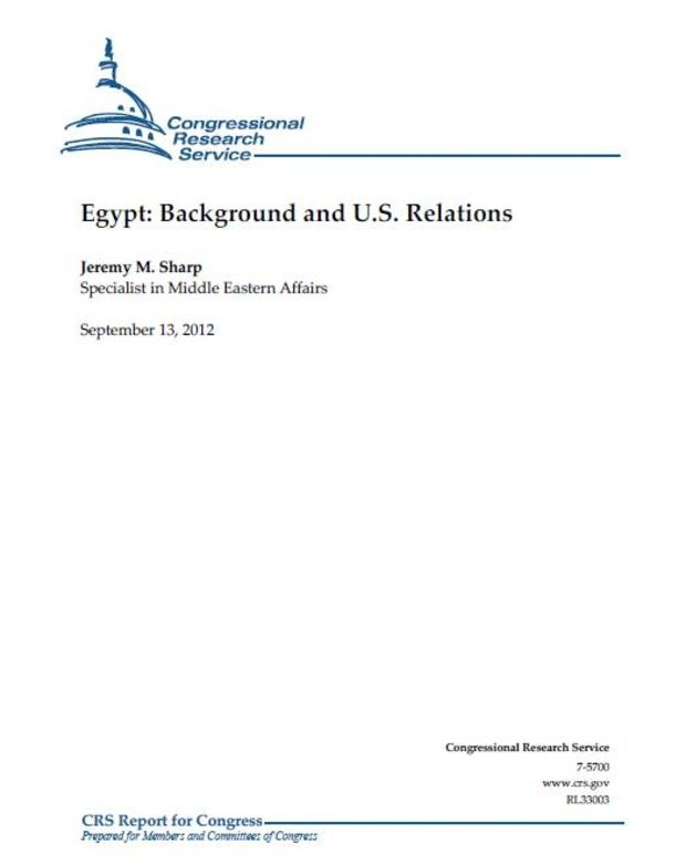 Egypt's history with US-Relations - The American view