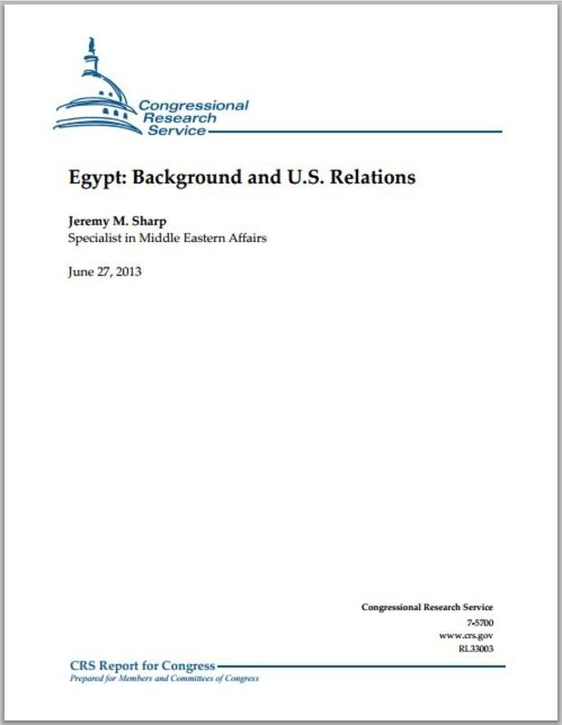 U.S. Congress: Egypt is experiencing a