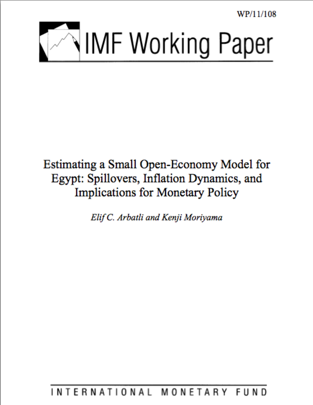 Estimating a Small Open-Economy Model for Egypt